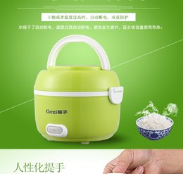 Wholesale Cooker Sizes - 3 LAYER Electric Mini Rice Cooker Single Electron Heating Lunch Box Portable Mini Size Travel Heating Box Small Rice cookers