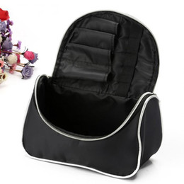 Wholesale Travel Cosmetic Cases Women - Wholesale- EIFFTER 2017 New Professional Women Makeup Case Bag Ladies Black Large Capacity Portable Cosmetic Storage Travel Bag (Have Logo)