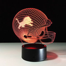 Wholesale Ball Light Table Lamp - Seven Colors Changing Detroit Lions Light 3D Visual Led Night Light USB Novelty Dallas Cowboys Table Lamps as Home Decor Besides Lampara 08
