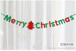 Wholesale Scene Wall - Christmas ornaments letter banner spent widening holiday decorations hotel mall scene decoration christmas wall decorations