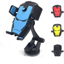 Wholesale Universal Cellphone Car Mount Holder Windshield - Flexible Mobile Phone Holder Iron Man 4 Colors Automatic Telescopic Universal Cellphone Car Mount Holder Windshield Desktop Bracket