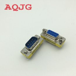 Wholesale Gender Changer Adapter - Wholesale- RS232 Gender Changer DB9 9pin Female to male VGA Gender Changer Adapter Male to Female Wholesale 9pin AQJG