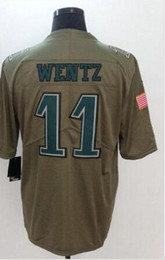 Wholesale Pro Sports Football - Philadelphia #11 Carson Wentz Salute To Service American College Football Stitched Uniforms Embroidery Mens Sports Team Pro Jerseys cheap