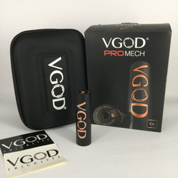 Wholesale Pro Vent - 100% Original VGOD PRO MECH Box MOD with Deep Engraving VGOD Logo&Spring Loaded with 5 Large Vent Holes 510 Thread Ecig vape Mods
