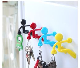 Wholesale Strong Decoration - Wall Key Creative Mini Strong Man Magnetic Pete Wall Climbing Key Hook Refrigerator Sticker for Home Decoration wa4140