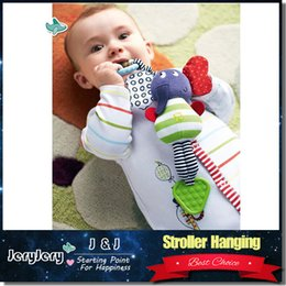 Wholesale Bell Plush - Music Elephant Hanging Baby Infant Kids Soft Dolls Educational Plush Toys Teether Bed Stroller Bell Rattle Toys