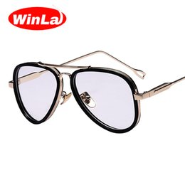 Wholesale Vintage Eyewears - Wholesale- Winla New Fashion Transparent Clear Lens for Women Metal Frame Classic Vintage Style Optical Glasses Frame Female Eyewears