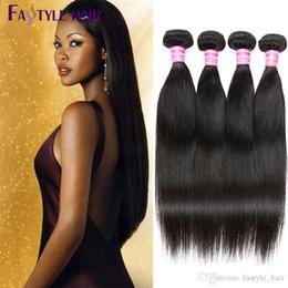 Wholesale Cheap Indian Remy Hair Bundle - Fastyle Factory Wholesale CHEAP Fastyle Peruvian Straight Hair Extensions Unprocessed Brazilian Malaysian Indian Virgin Human Hair Bundles