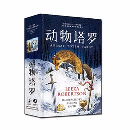 """Wholesale family board games new - """"Animal Tarot"""" Board Game 78 PCS Set New Design Cards Game Chinese English Edition Tarot Board Game For Family Friends"""