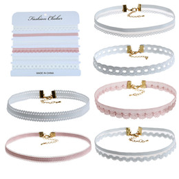 Wholesale Marketing Sets - 2017 new come to market 6pcs a set fashional elegant sytle Lace Choker necklace for Mother's Day