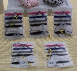 Brand New 100pcs / lot mini kit de couture / kits de couture de voyage broderie travaux d'aiguille six fils kit de couture kit de réparation ? partir de fabricateur