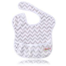 Wholesale Plain Infant Bibs - Ohbabyka Baby Feeding Waterproof Pocket Superbib Big Ergonomic Easy Clean Adjustable Hook-Loop Bibs Infant Burp Apron Clothes