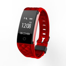 Wholesale Sale Phone Watches - Hot Sale S2 Smart Wristband Watch Bluetooth Dynamic Heart Rate Monitor IP67 Waterproof Bracelet Fitness Step Counter For Android IOS Phone