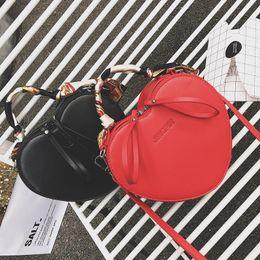 Wholesale Scarf Leopard Color - 2017 female bag fashion hearts packet new winter scarves personality bag handbag single shoulder bag