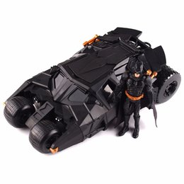 Wholesale Batman Batmobile Tumbler Figure - the dark knight Sets The Dark Knight BATMAN & BATMOBILE Tumbler BLACK CAR Vehecle Toys Doll With Figure 87020
