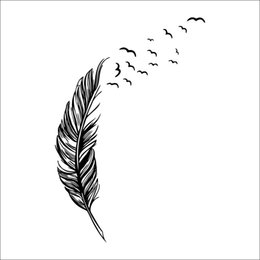 Wholesale Decal Feather Design - Nice Looking Easy to Install Removable Erroneous Feather Vinyl Car Truck Window Laptop House Decal Waterproof Wall Sticker Home Decoration