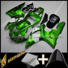 Wholesale 99 Yamaha R1 Plastics - 23colors+8Gifts green black motorcycle cowl for Yamaha YZF-R1 1998-1999 98 99 YZFR1 1998 1999 98-99 ABS Plastic Fairing