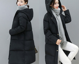 Wholesale European Jacket Women - European Station 2016 Cotton Women's Jacket New Winter Coat Women's Fashion Warm Parks Hooded Women Down Jacket Casual Coat Plus Size