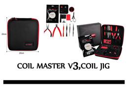 Wholesale Combo Tab - Hot selling productsCoil Master V3 Coil Jig Tool Box Kit 521 Tab Mini ohm Reader Workshop V4 Combo Winding Kit, free DHL