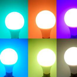 Wholesale Dimmer Bar - E27 10 Watt LED Lamp RGB 16 Colors Changing Remote Dimmer Control AC 85~265V for KTV Bar Lighting Magic Bulb CE ROSH DHL