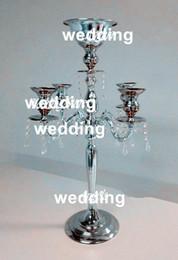 Hermoso jarrón de decoración online-hermoso florero de flor de metal alto paited flor soporte central de la boda para la decoración de bodas