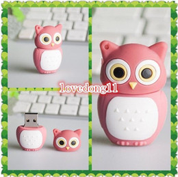 Wholesale Cartoon Model Usb Memory Stick - New wholesale price 8GB cartoon pink owl model usb 2.0 memory stick flash drive