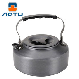 Wholesale Appliances Coffee - 1.1L Portable Ultra-light Outdoor Hiking Camping Picnic Water Kettle Teapot Coffee Pot Outdoor Appliances Water Coffee Pot 144