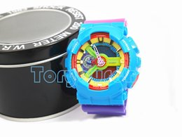 Wholesale Colorful Digital Watches - Colorful colors for relogio G110 men'ssports watches,digital wristwatch watch,with box