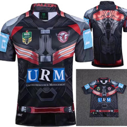 Wholesale Patriots Shirts - 2017 New Zealand Manly Sea Eagle rugby Jersey Newcastle Knights Iron Patriot Brisbane MANLY SEA EAGLES shirt 17 18 Rugby jersey MAN JERSEY