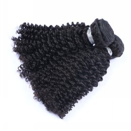 Wholesale Indian Remy Kinky Curly Hair - 8A Brazilian Human Hair Bundles Kinky Curly Weave Weft Peruvian Malaysian Indian Mongolian Virgin Hair Kinky Curly Remy Hair Extensions