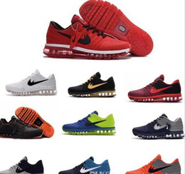 Wholesale High Quality Pu Leather - Free Shipping 2017 New Arrival Mens Maxes Shoes Men Sneaker Maxes 2017 High Quality Mens Running Sport Shoes Maxes BENGAL Orange Grey KPU 47