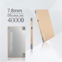 Wholesale Thin Can - The new ultra-thin mobile power, manufacturers can supply customized ultra-thin polymer 4000MAH rechargeable treasure free shipping