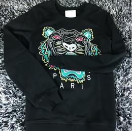 Wholesale Fleece Sweaters Men - Hot Sale free shipping 2018 winter women fashion Men Women Embroidered tiger sweater brand women men hoodie Sweatshirts KENZ Fleece