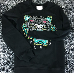 Wholesale Printed Hoodie Tiger - Hot Sale free shipping 2018 winter women fashion Men Women Embroidered tiger sweater brand women men hoodie Sweatshirts KENZ Fleece
