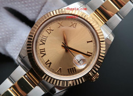 Wholesale Watch Roman Gold - Top Quality Luxury AAA Brand Wristwatches Sapphire New 41MM 126333 Roman Stainless Steel Champagne Automatic Mechanical Men's Watch Watches