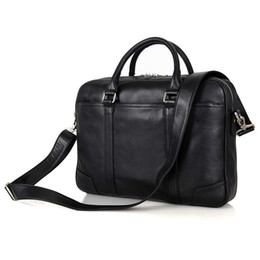 Wholesale Vintage Leather Satchels For Men - Genuine Leather Laptop Bag Top Handle Bag Men's Handbag For Buisness 7349A