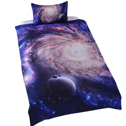 Wholesale Quilt Bedspread Bedding Sets - Amazing Hot Galaxy Bedding Set Close to Galaxy Realize Your Dream Easier Quilt Cover Set Twin Single Full Bedspread Bedclothes