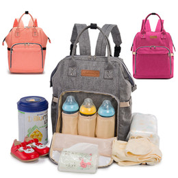 Wholesale Multifunction Diaper Bags - Hot Mommy Backpack Nappies Bags Fashion Mother Maternity Multifunction Diaper Backpacks Large Volume Outdoor Travel Bags 7 Color WX-B29