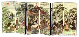 Wholesale Bamboo Drawings - Creative study the living room decoration lacquer small screen business gifts Wang Xizhi Calligraphy Festival Lanting Pavilion sequence