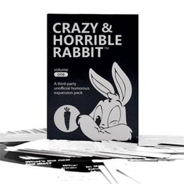 Wholesale free rabbit games - Most Popuar Crazy&Horrible Rabbit Popuar Card Games 112-Card Core Deck Playing Cards Basic And Expansion Cards Free DHL