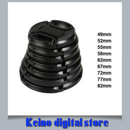Wholesale 72mm Cap - Wholesale-9pcs lots camera lens cap lens protection front cover 700d 60d d7000 d5100 a99 a77 49mm 52mm 55mm 58mm 62mm 67mm 72mm 77mm 82mm