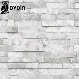Wholesale Decorative Pvc Wall Paper - Wholesale- Kitchen Background Wallcovering Design Brick PVC Wallpaper Vinyl 3D Effect Brick Wall Paper Bathroom,Dinning Room Decorative