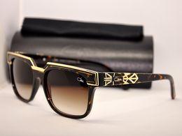 Wholesale Sunglasses Retro Leopard - Vintage Cazals Sunglasses 1617 Eyewear Cazals Legends Leopard Frame Brown Lenses Germany Eyeglasses Retro Cazals Frame With Case
