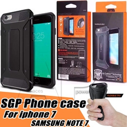Wholesale Carbon Black Packaging - Case For Iphone 7 Hybrid Rugged Armor Case Soft TPU Carbon Fiber Shockproof Shell Iphone7 I7 Plus Iphone 6s Plus With Package