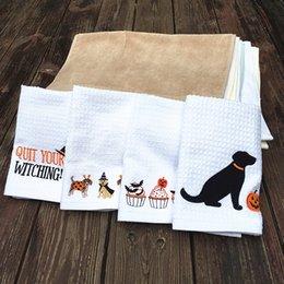 Хэллоуин полотенца онлайн-Прекрасные животные полотенце для чая чистый хлопок воды поглощения ткань для очистки оригинальность Хэллоуин праздник печатных блюдо полотенца 6 2ad C RC