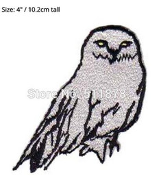 Wholesale 4 quot HARRY POTTER Hedwig the Snow Owl Badge CREST Patch Embroidered TV MOVIE Series Costume Emblem applique Halloween cosplay