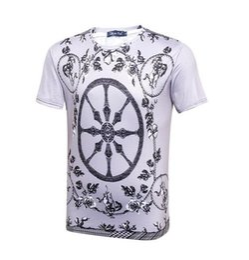 Wholesale Printer Cartoon - Fashion clothing mens wear T-shirt Men short-sleeved Cartoon art Mens T-shirts 3d printer men t shirts