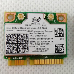 Wholesale Intel Wireless Pci - Wholesale- New card for Intel Dual Band Wireless-ac 7260 7260hmw Half Mini Pci-E 802.11 Ac wifi BlueTooth 4.0 BT for IBM Lenovo 04W3814