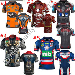 Wholesale Patriot Jerseys - 2017 New Zealand rugby Jersey Newcastle Knights Iron Patriot Brisbane Broncos Iron Man Melbourne Storm Thor Wests Tigers Sea Eagles North