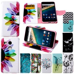Wholesale Nexus Book Cover - Wholesale price for Case Cover Luxury Flower Smail Card Slot Wallet Flip Book Leather Phone Cases forLG Nexus 5x for Iphone7G 6G Cover Bag